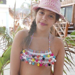 Stella Cove Swim - Stella Cove Swimsuit pom-pom Bikini size 14 years
